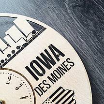 Интерьерные часы на стену 7Arts Де-Мойн, Айова CL-0111, фото 3