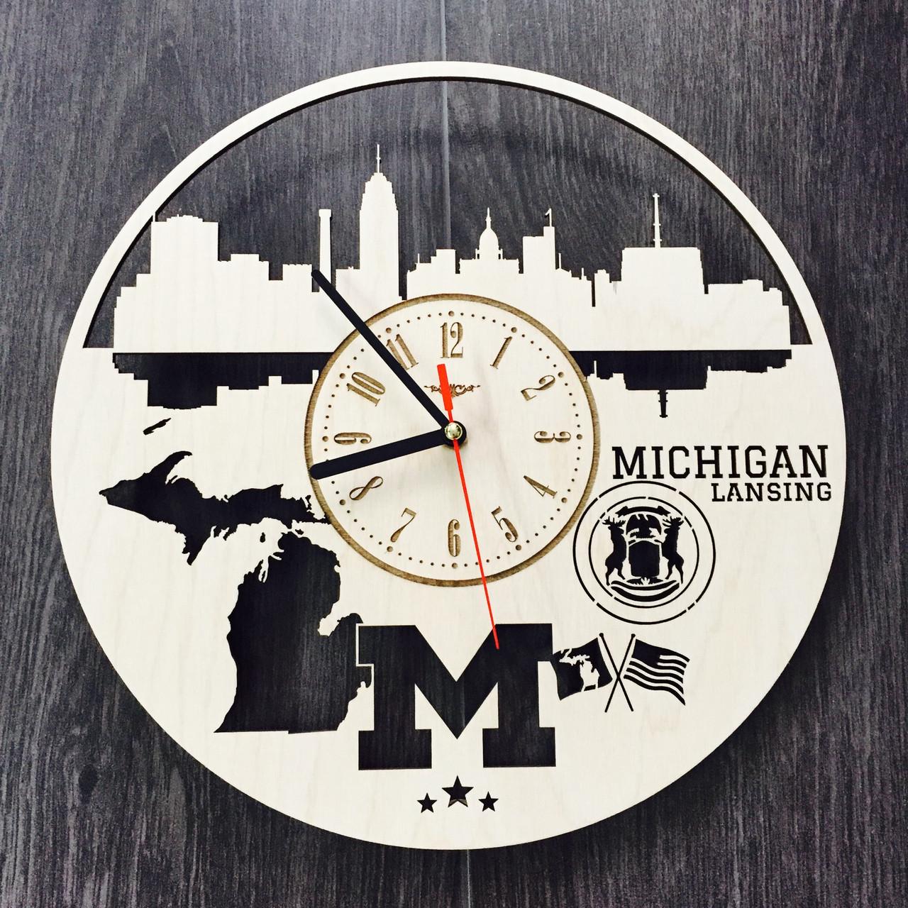 Дизайнерські годинники на стіну 7Arts Лансінг, штат Мічіган CL-0116