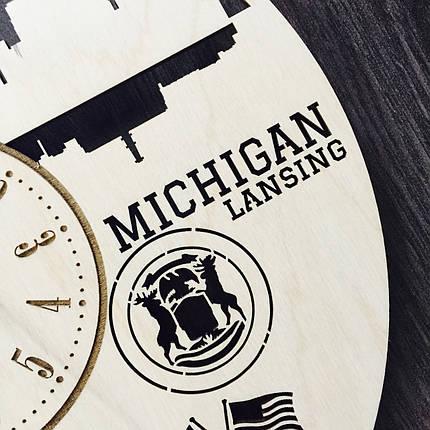 Дизайнерські годинники на стіну 7Arts Лансінг, штат Мічіган CL-0116, фото 2