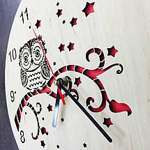 Деревянные часы ручной работы 7Arts Сова CL-0127, фото 2