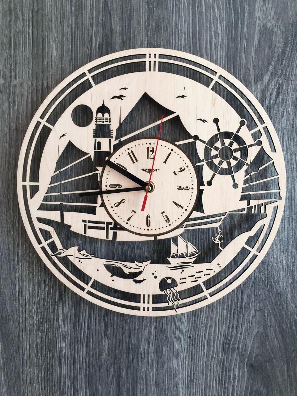 Концептуальные часы на стену 7Arts В открытом море CL-0144