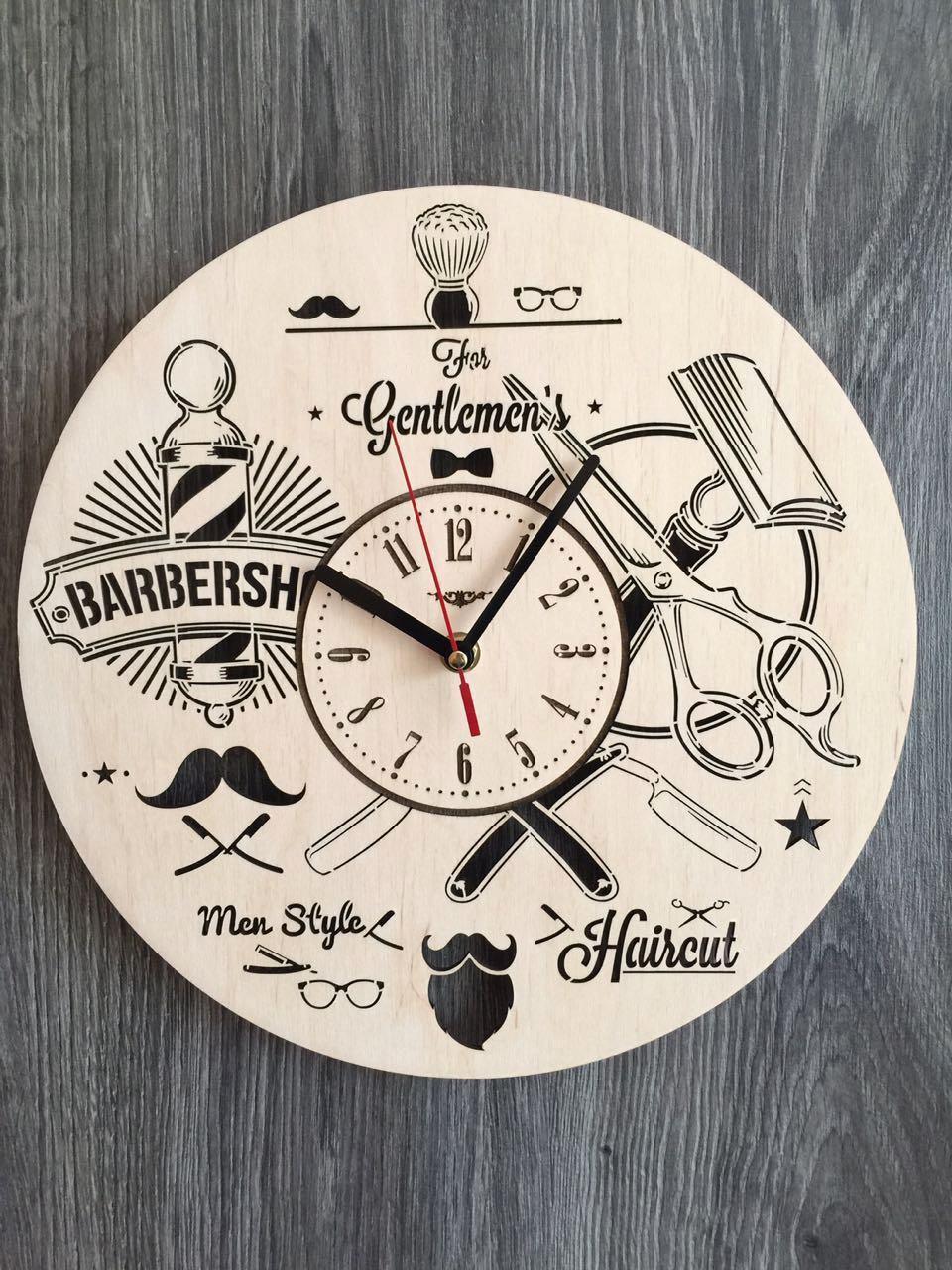 Стильные настенные часы 7Arts Инструменты парикмахера CL-0145