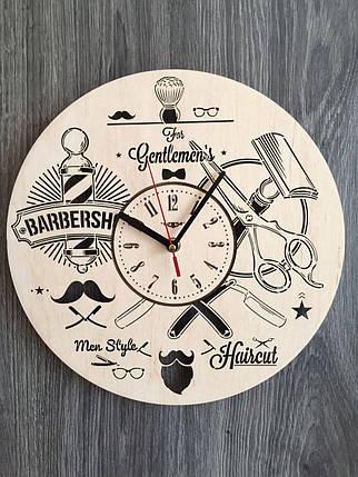 Стильные настенные часы 7Arts Инструменты парикмахера CL-0145, фото 2