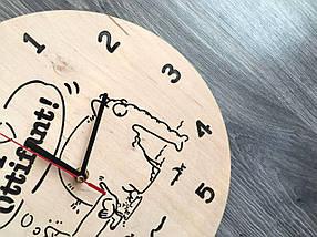 Хендмейд годинник з дерева 7Arts Слоник Оттифантен CL-0160, фото 3