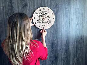Хендмейд часы из дерева 7Arts Слоник Оттифантен CL-0160, фото 3
