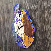 Цветные детские деревянные часы на стену Леди и Бродяга CL-0231, фото 2