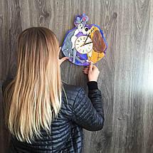 Цветные детские деревянные часы на стену Леди и Бродяга CL-0231, фото 3