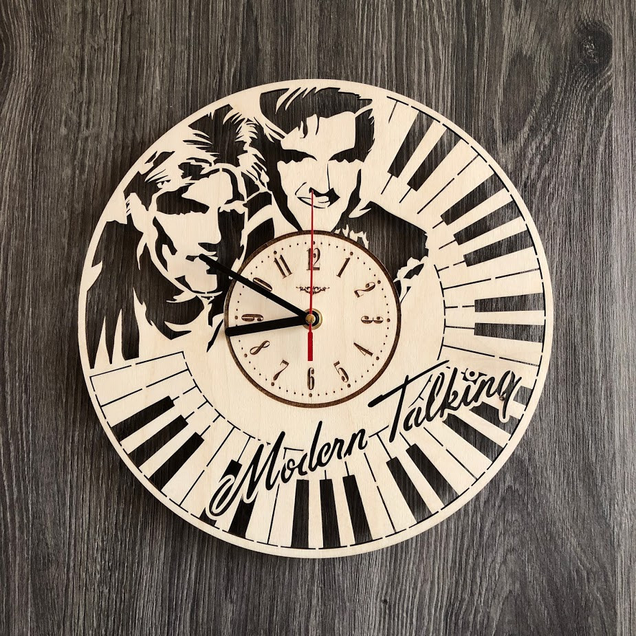 Безшумні настінні годинники з дерева Modern Talking CL-0264