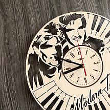 Безшумні настінні годинники з дерева Modern Talking CL-0264, фото 3