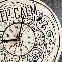 Деревянные настенные часы из дерева Пицца CL-0265, фото 3