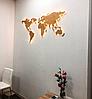 Деревянная карта Мира с LED подсветкой 150х90 см, фото 2