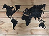 Деревянная карта Мира с холодной LED подсветкой и гравировкой 150х90 см, фото 4