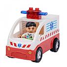 """Конструктор JDLT 5173 (Аналог Lego Duplo) """"Пункт скорой помощи"""" 56 деталей со светом и звуком, фото 2"""