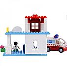 """Конструктор JDLT 5173 (Аналог Lego Duplo) """"Пункт скорой помощи"""" 56 деталей со светом и звуком, фото 3"""