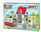 """Конструктор JDLT 5173 (Аналог Lego Duplo) """"Пункт скорой помощи"""" 56 деталей со светом и звуком, фото 4"""