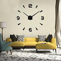 Большие настенные часы Арабские полосы Black