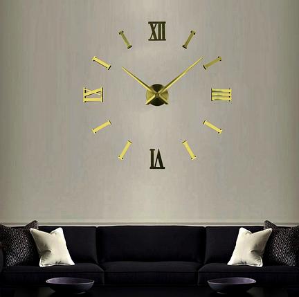 Великі настінні годинники Римські смуги Gold, фото 2