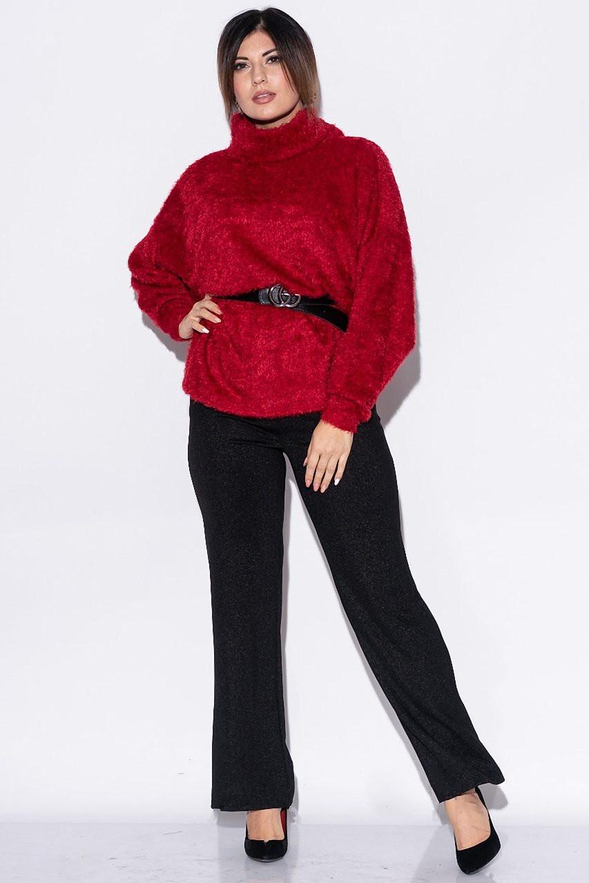 Красивые свитера летучая мышь Роксолана-2 с поясом из экокожи