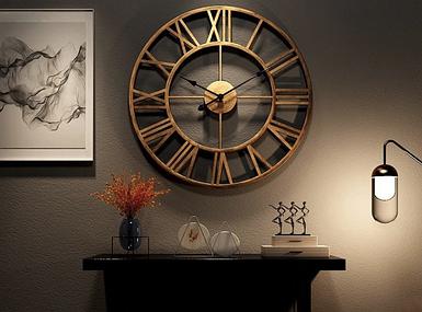 Кованные настенные часы BRONZE ROME
