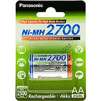 Аккумулятор Panasonic High Capacity AA 2700 mAh 2BP Ni-MH BK-3HGAE/2BE