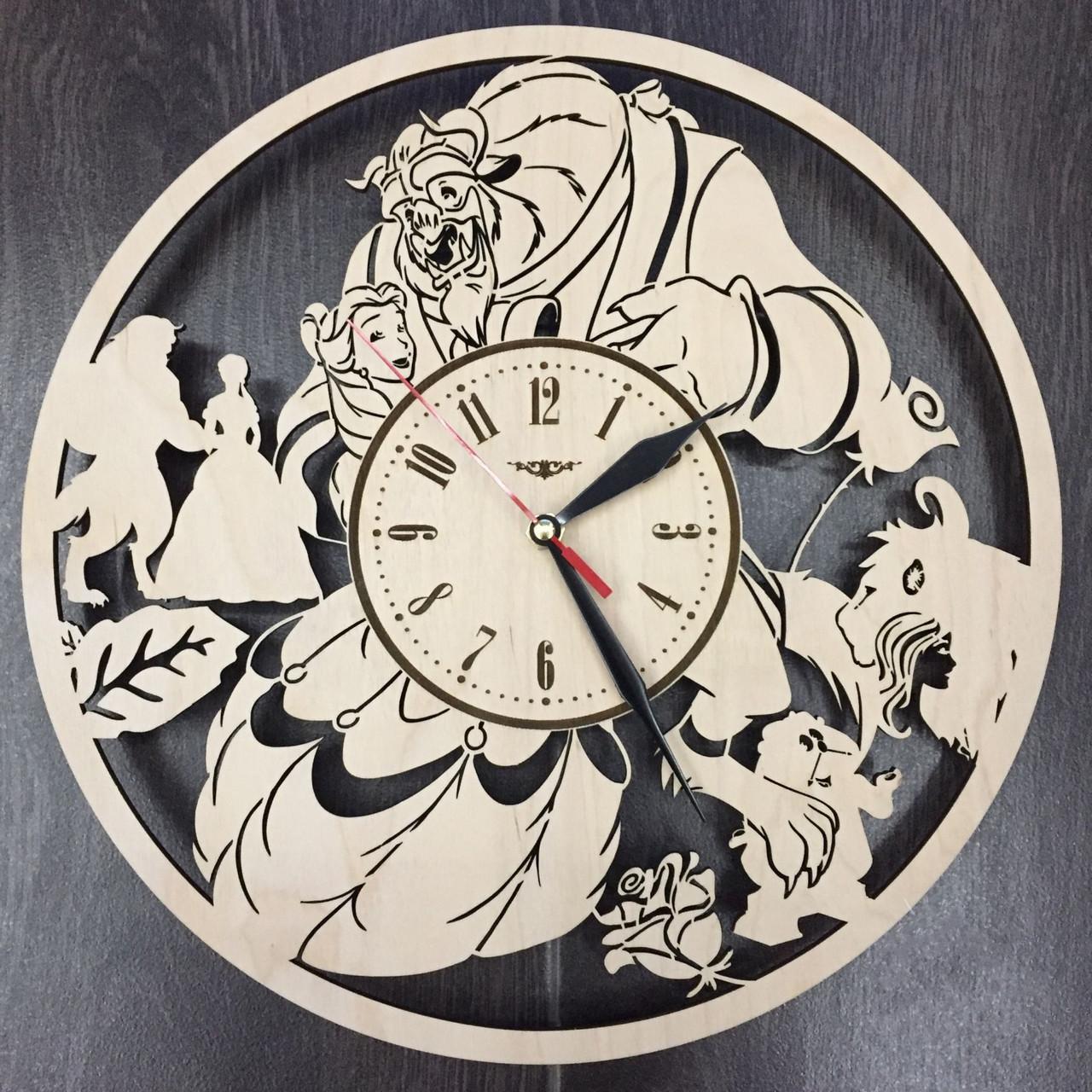 Оригинальные настенные часы 7Arts Красавица и чудовище CL-0022