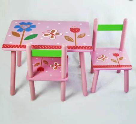"""Столик со стульчиками B18319 """"Цветы"""""""