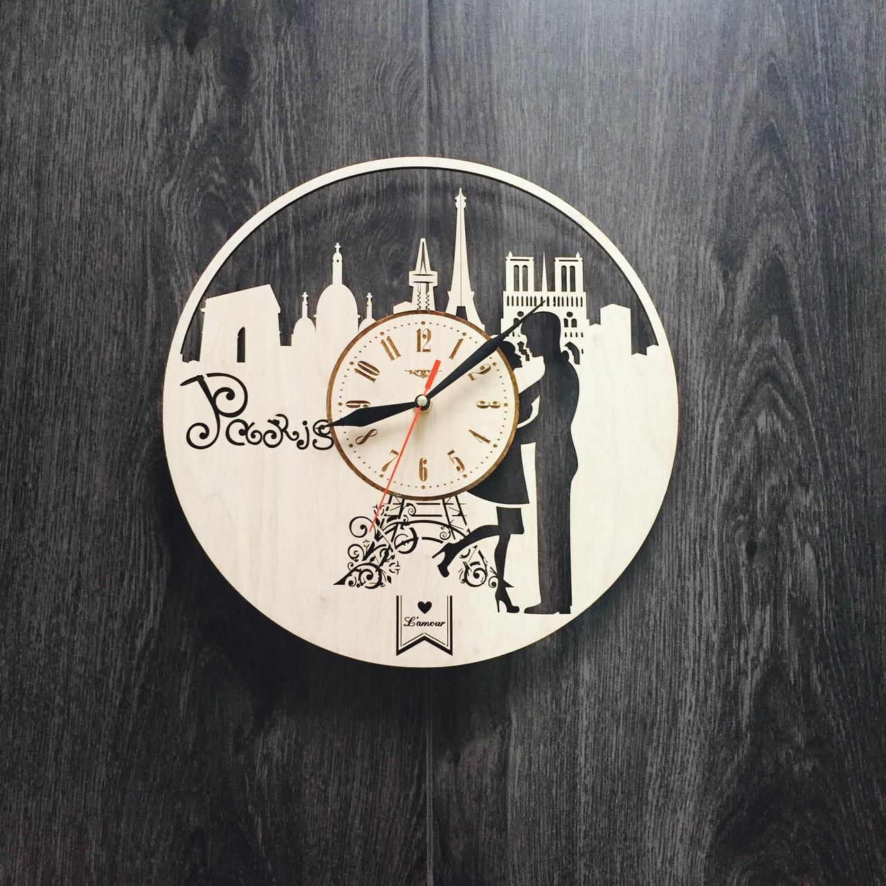 Інтер'єрні дерев'яні годинник 7Arts Париж Cl-0033