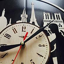 Інтер'єрні дерев'яні годинник 7Arts Париж Cl-0033, фото 3
