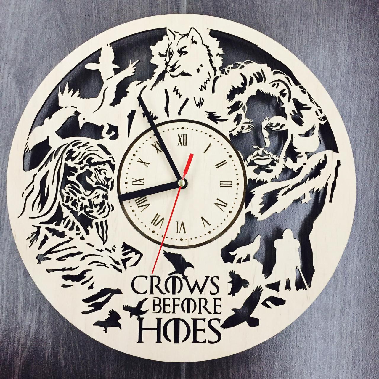 Оригінальні настінні годинники з дерева 7Arts Гра Престолів CL-0086