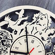 Оригінальні настінні годинники з дерева 7Arts Гра Престолів CL-0086, фото 3