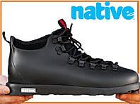 Зимние термо ботинки Native Fitzsimmons Black (нейтив фитцсиммонс, черные) термоносок