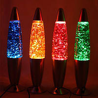 """Ночник детский светильник """"Глиттер Лампа Лава """" высота 37,5 см."""