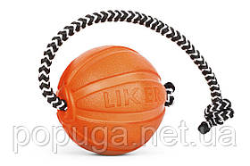 Liker Cord 5 - мячик со шнуром для щенков и собак мелких пород
