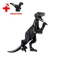 Динозавр Индораптор черный Конструктор, аналог Лего