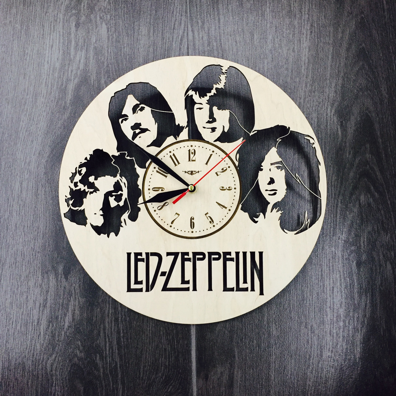 Арт-часы настенные деревянные круглые 7Arts Led Zeppelin CL-0061