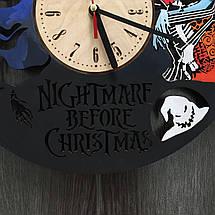 Годинники настінні кольорові з дерева 7Arts Кошмар перед Різдвом CL-0068, фото 2