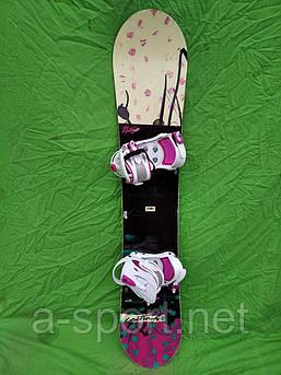 Сноуборд бу Nitro lectra bright 146 см + нове кріплення westige