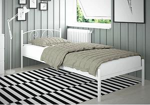 Односпальне ліжко Віола-міні Tenero 80х190 см з узголів'ям на ніжках металева