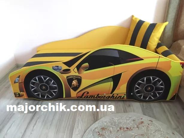Кровать машина Ламборгини кроватка серии Элит 170х80см с выдвижным ящиком