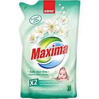 Sano Maxima Baby Aloe Vera гигиенический смягчитель для детского белья екопак 1 л
