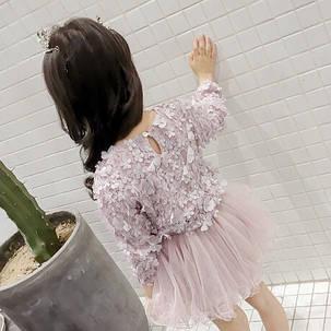 Нарядное платье  на девочку на длинный рукав  пишное с  цветочками  3-7 лет, фото 2