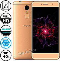 Смартфон Nomi i5050 Gold (3/32GB) 2-SIM + Подарок Защитное Стекло