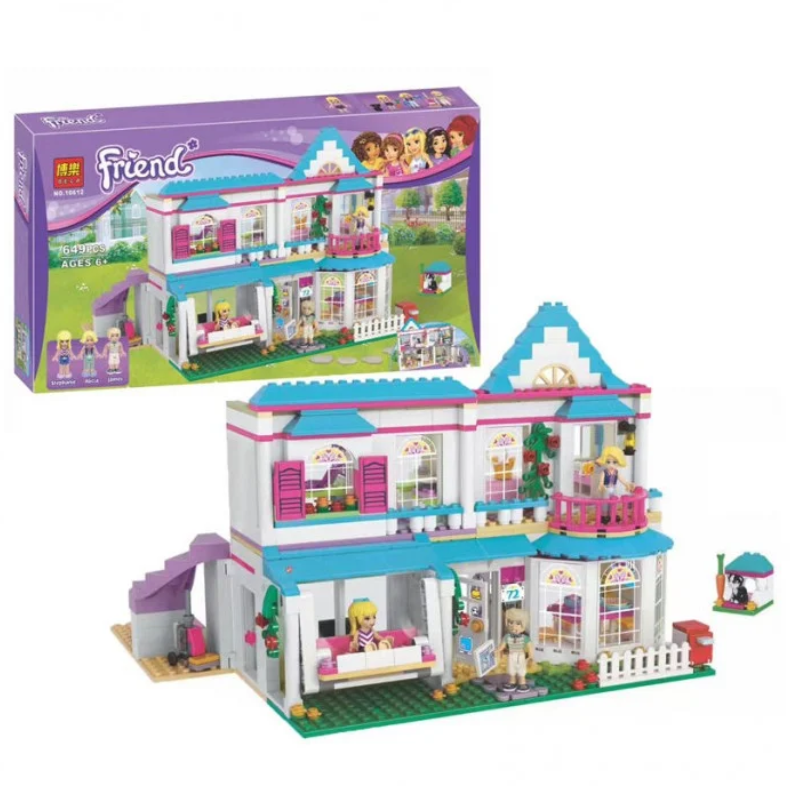 """Конструктор Bela 10612 (Аналог Lego Friends 41314) """"Дом Стефани"""" 649 деталей"""