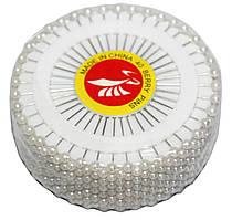 """Кравецькі шпильки """"Кулька"""" (480шт) білі"""