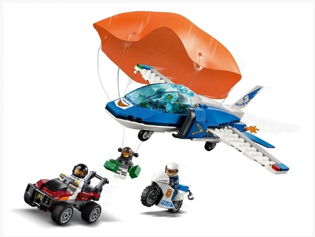 """Конструктор Bela 11208 (Аналог Lego City 60208) """"Воздушная полиция: арест парашютиста"""" 242 детали"""