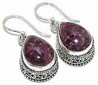 Серебряные серьги с  эвдиалитом , от Студии  www.LadyStyle.Biz