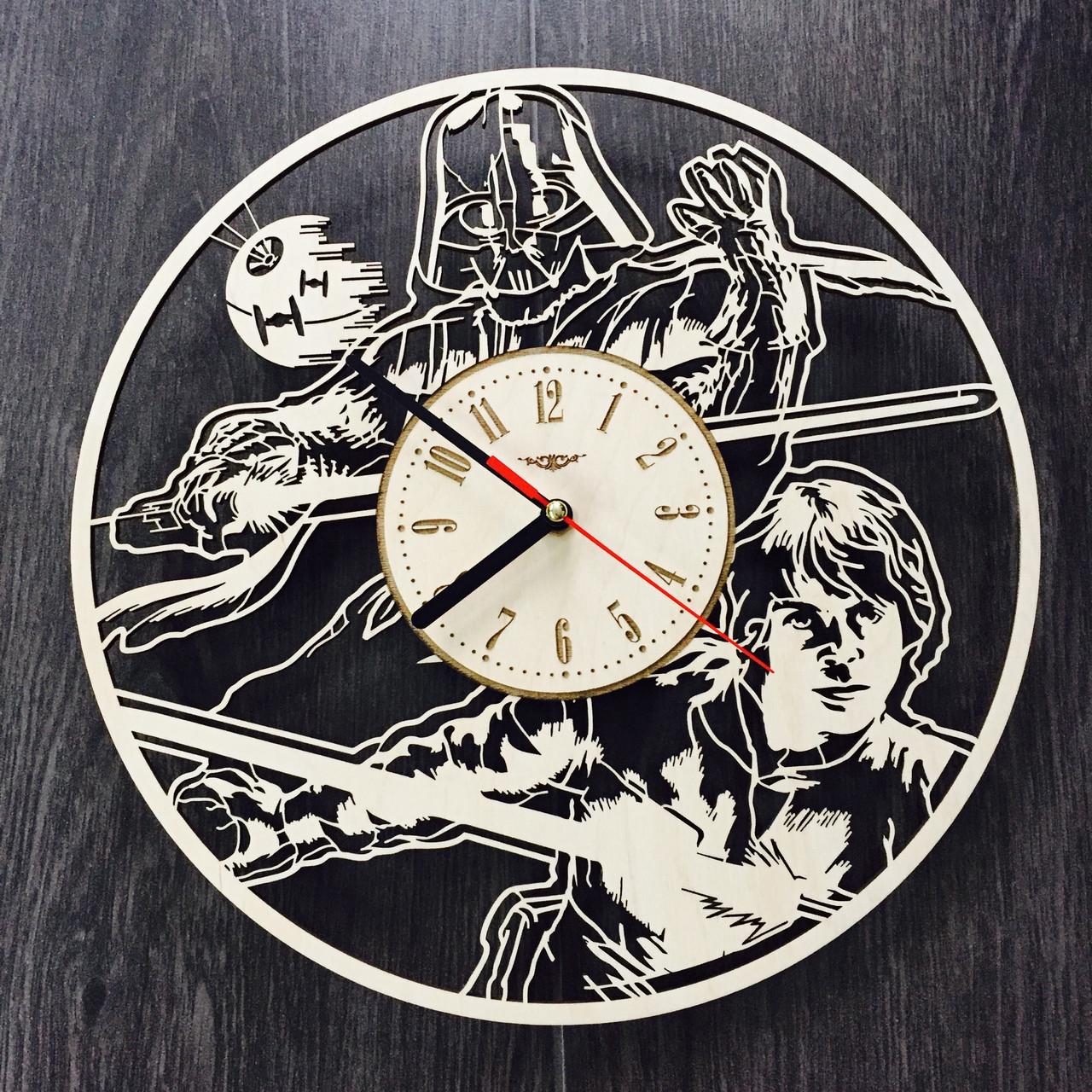 Концептуальные настенные деревянные часы  7Arts Звездные Войны CL-0124