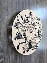 Дерев'яні годинник на стіну 7Arts Соковиті фрукти CL-0131, фото 2