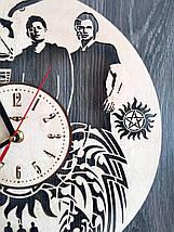 Дизайнерські дерев'яні годинник 7Arts Сверхьестественное CL-0138, фото 2