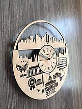 Дизайнерські годинники на стіну 7Arts Сіетл, Вашингтон CL-0143, фото 2
